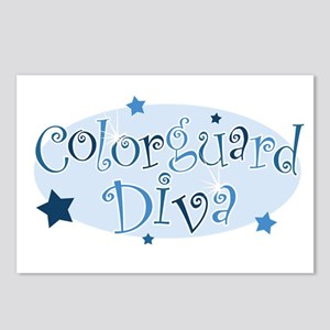 """Colorguard Diva"" [blue] Postcards (Package of 8)"